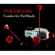 Furious FPV POKERGODA Combo For FatShark - RHCP